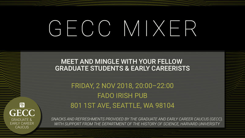 Graduate and Early Career Caucus Mixer Flyer 2018